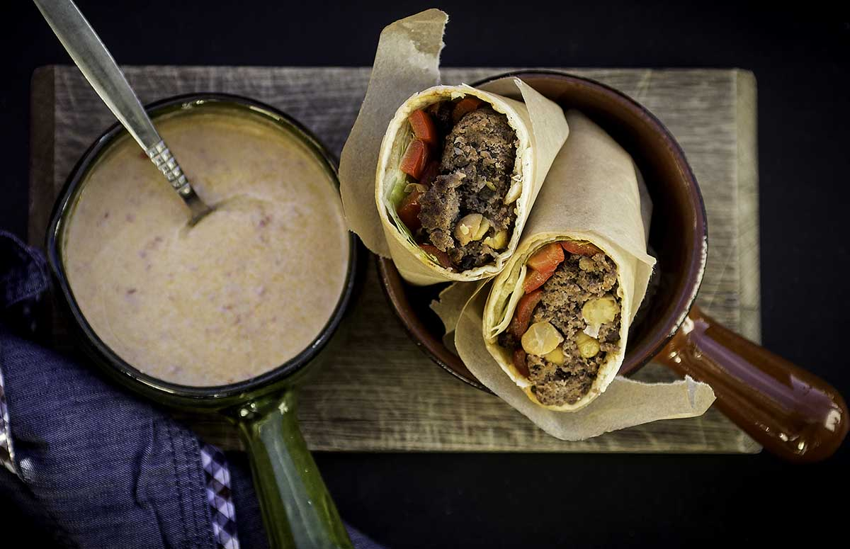 Tortilla burger fra retnemt.dk. sunde nemme retter på 30-40 minutter.